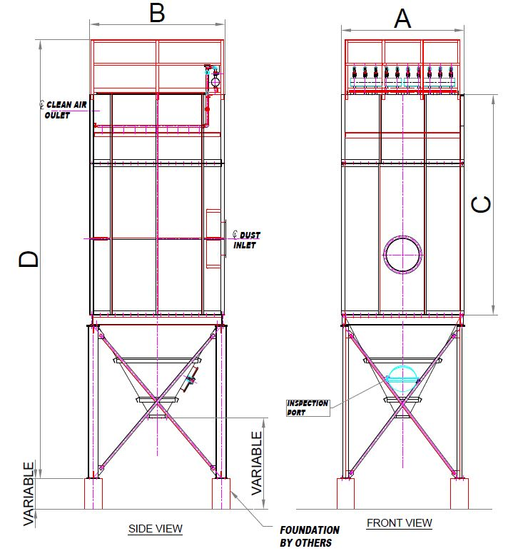 intellivent baghouse drawing