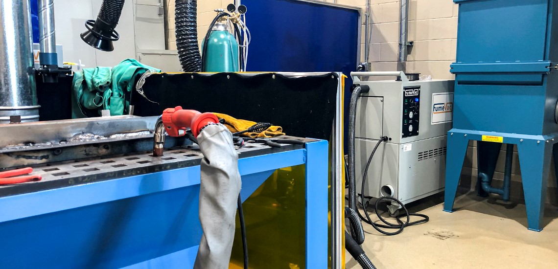 Mobile Low Noise Level Weld Fume Extraction Capture Ivec Systems